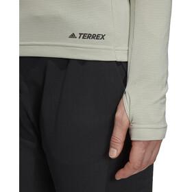 adidas TERREX TraceRocker Tee LS 1/2 Zip Women Ash Silver
